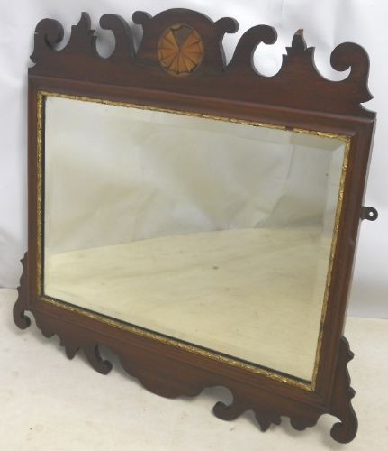 Georgian Style Mahogany Hanging Wall Mirror